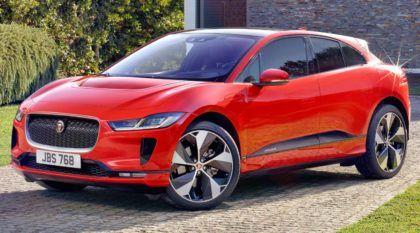 Jaguar I-Pace vermelho carro elétrico