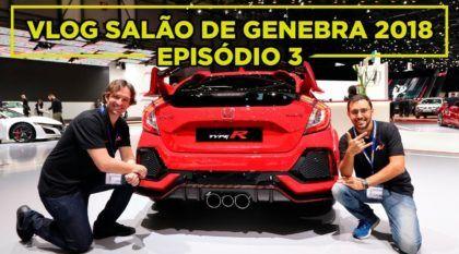 """VLOG AutoVideos Salão de Genebra 2018: Supercarblondie fala """"Oi"""", linha GTI completa e bastidores (Episódio 3)"""