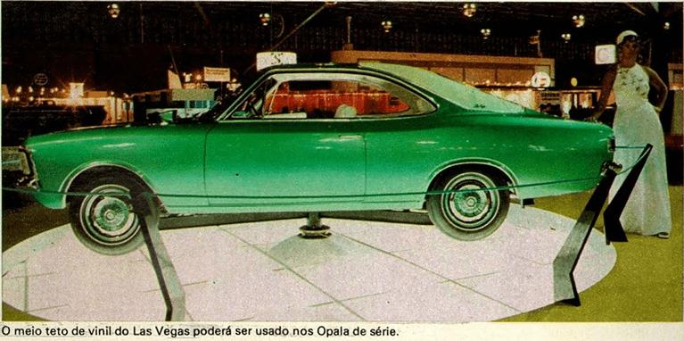 Opala Las Vegas no salão de 1972