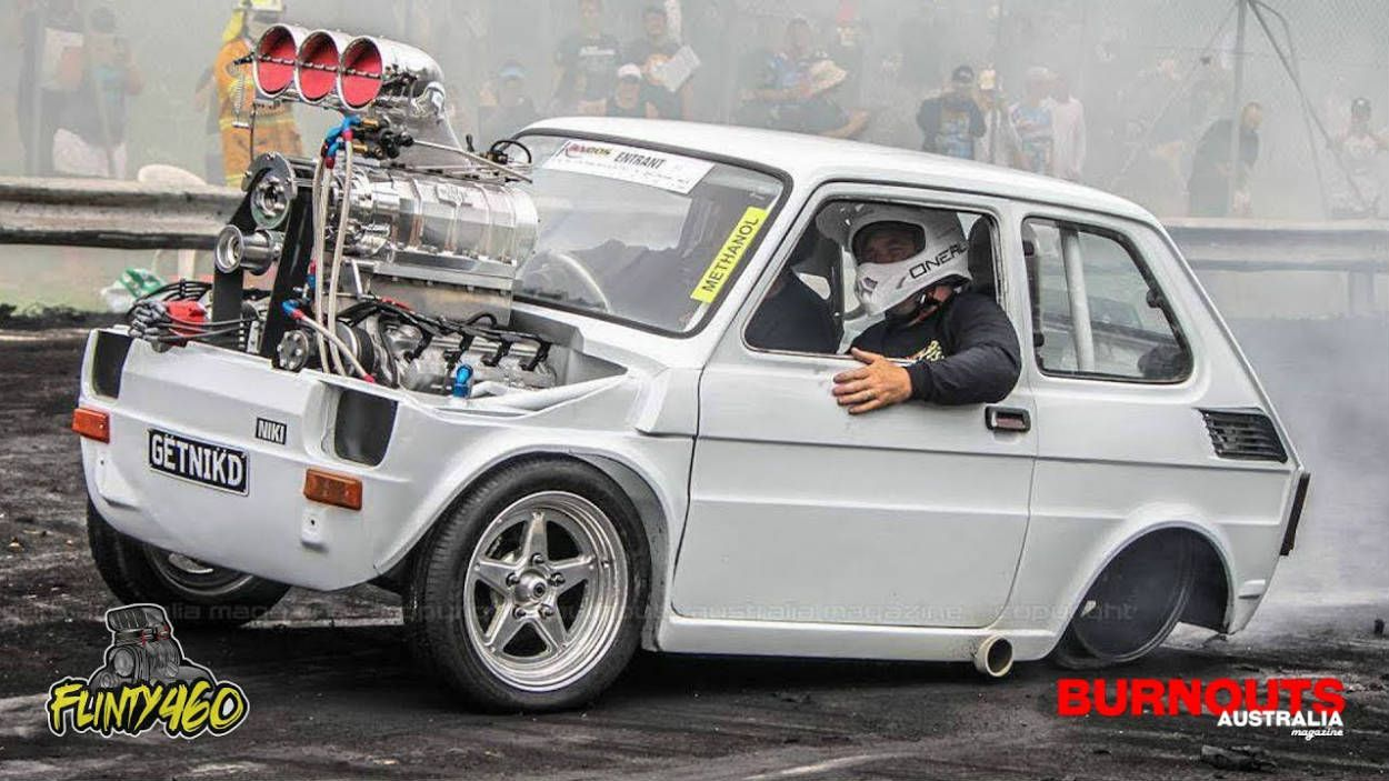 Fiat Burnout on Fiat 126 Engine