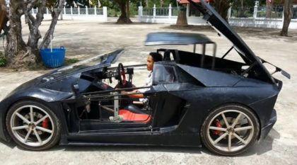 Usando motor de Moto, fazendeiro faz réplica de Lamborghini Aventador (e vídeo viraliza)