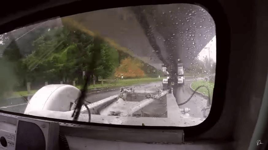 Visão do operador - Caminhão da Boeing