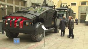 Putin inspects monstrous armored ZiL Karatel military truck and Kamaz Viking