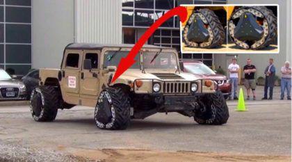 Humvee equipado com roda esteira: mais uma inovação militar norte-americana