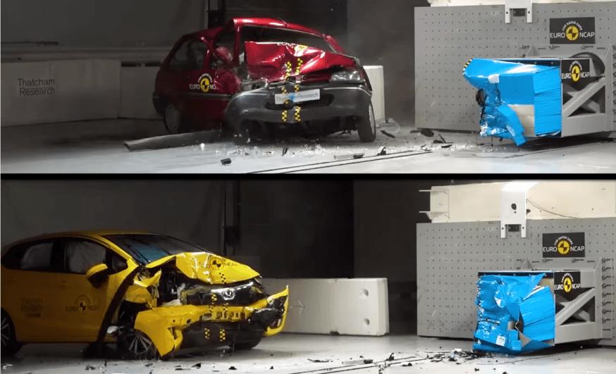 Segurança dos carros em crash test nos últimos 20 anos