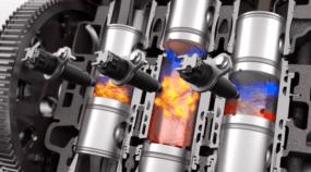 Motor de pistões opostos