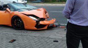 acidente com Lamborghini