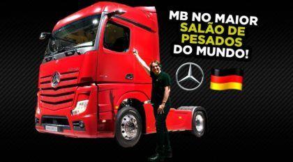 Confira o MAIOR SALÃO de Caminhões e Ônibus do Mundo (Estande Mercedes-Benz no IAA 2018)