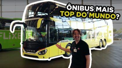 Setra 531 DT: Ônibus de Dois Andares monobloco mais TOP DO MUNDO?